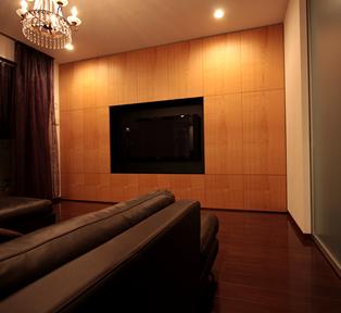 神戸 S邸ブラッチェリー壁面収納TVボード&キッチンカウンター