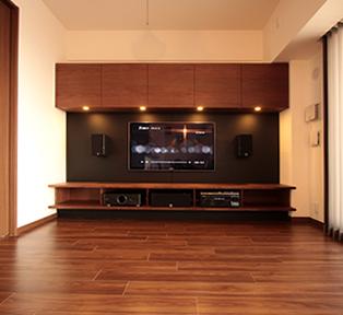 神戸市O邸オーダーメイド壁面テレビボード&オーディオ