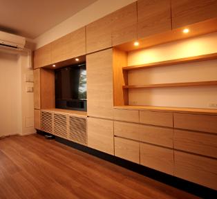 世田谷区の大容量壁面収納家具