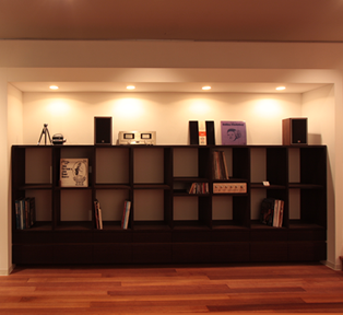 WENGE  BOOK  SHELF