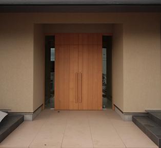 芦屋市 タモ追い柾無垢材建具