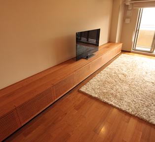 芦屋市O邸 長さ5メートルのテレビボードとキャビネット