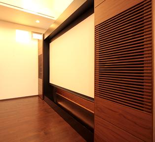 東京池袋E邸リビングシアターテレビボード