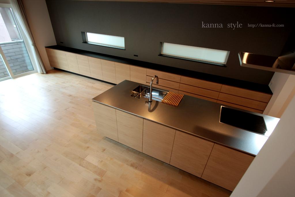 東京 キッチンとキッチンバックボード