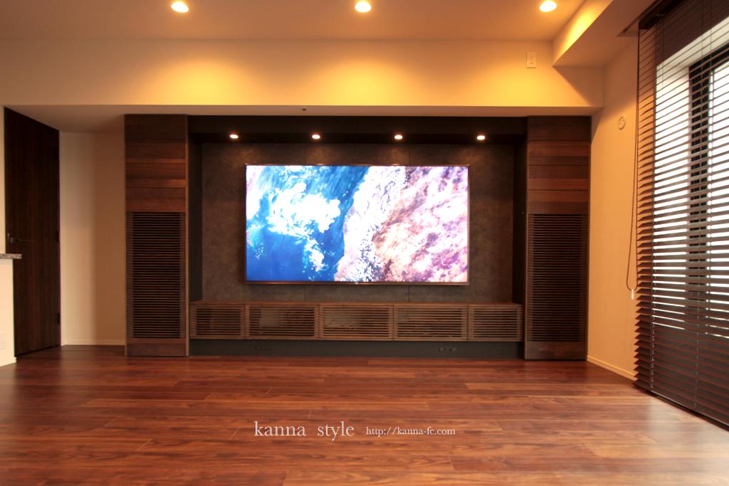 壁掛け壁面テレビボード